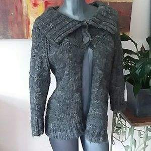 JILLIAN * NICOLE wool blended grey snap cardigan